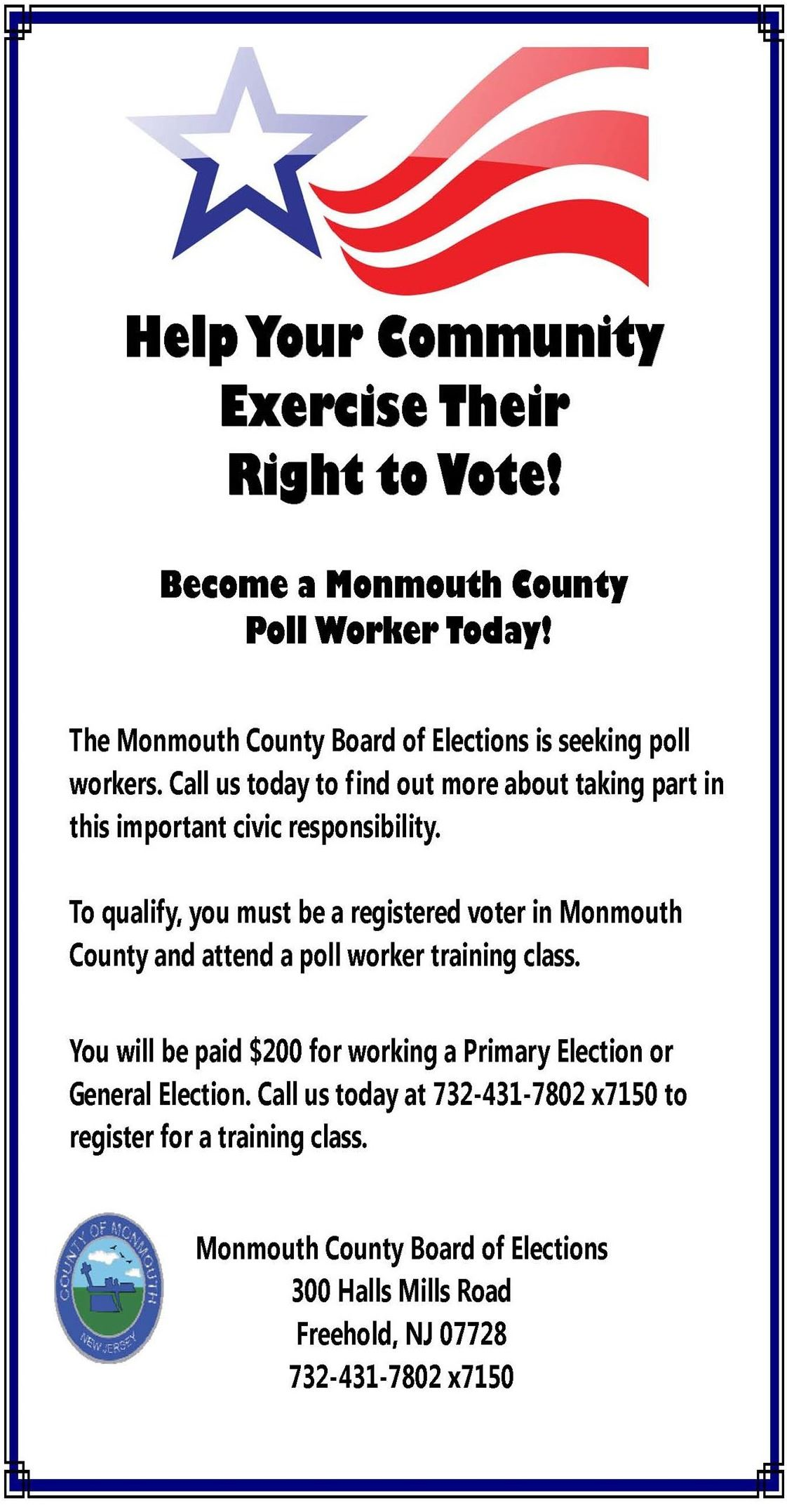 Poll Worker Recruitment Flyer