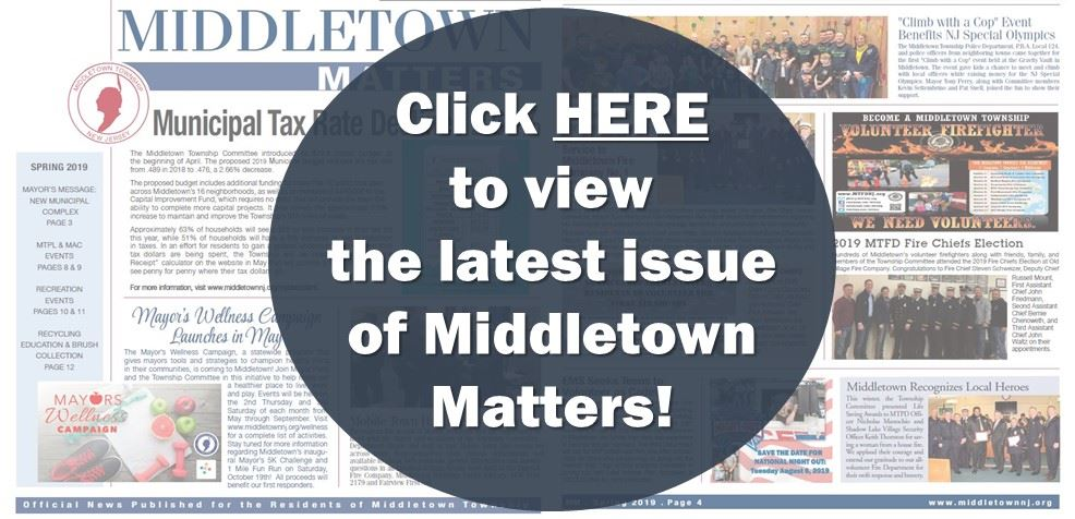 Middletown Matters Spring 2019 Promo