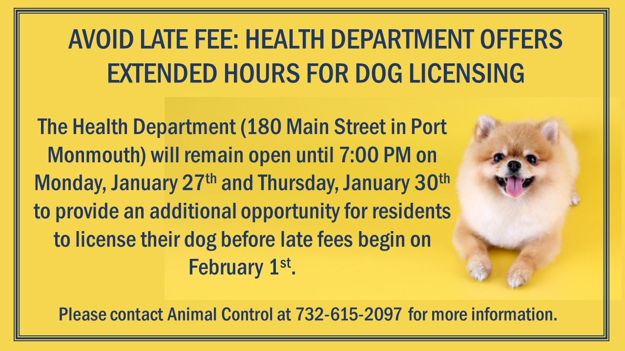 Staying Open Late for Dog Licensing