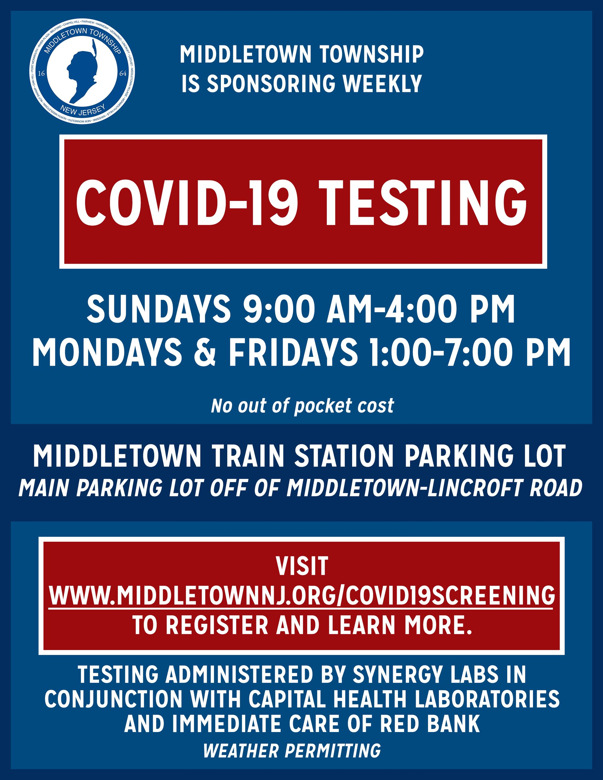 Flyer for Screening_WEEKLY TESTING_1821