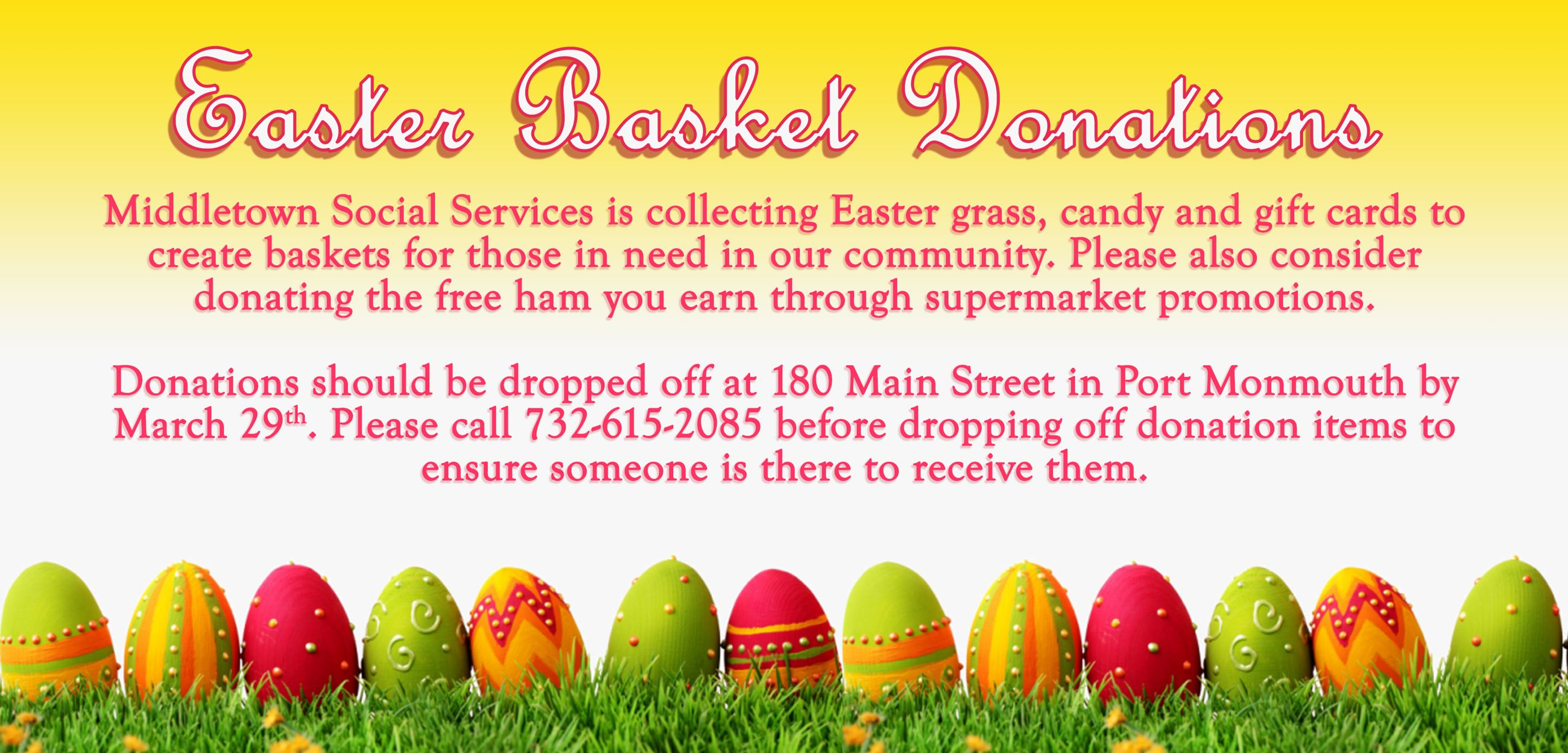 Easter Basket Donations 2021
