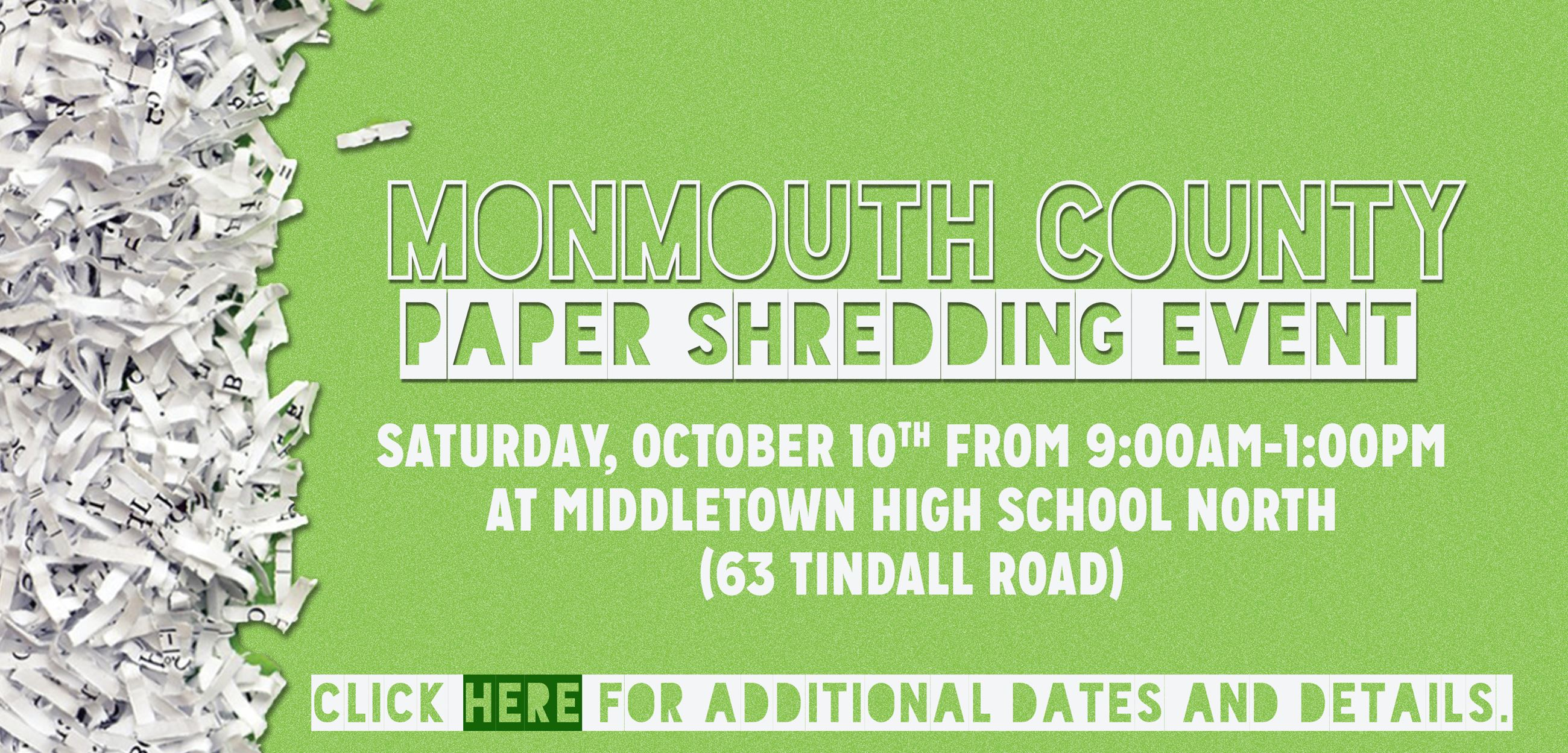 2020 Monmouth County Shredding Event Opens in new window